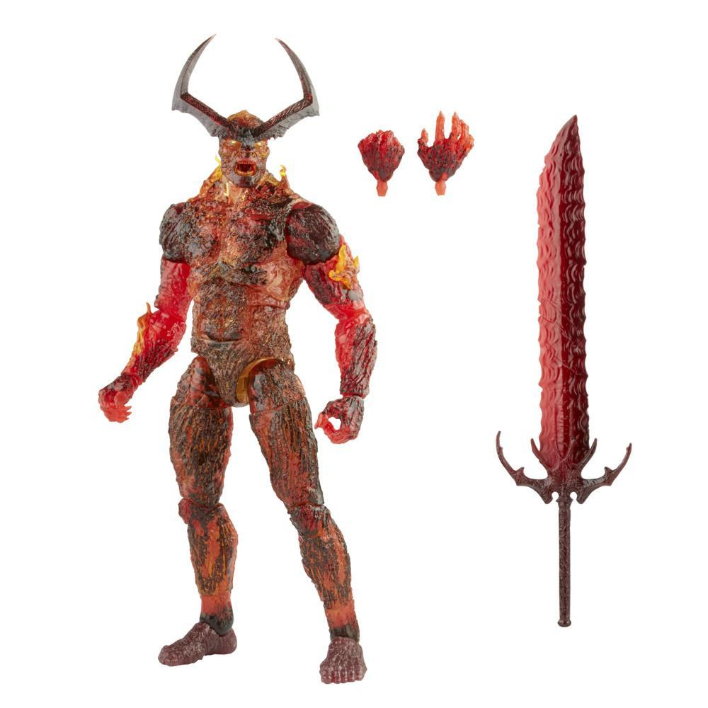 Hasbro Marvel Legends Series 6-inch Scale Action Figure Toy Surtur, Includes Premium Design and 3 Accessories
