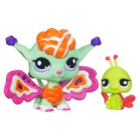 LITTLEST PET SHOP Fairies SHIMMERING SKY Sunscape Fairy and Ladybug Pack
