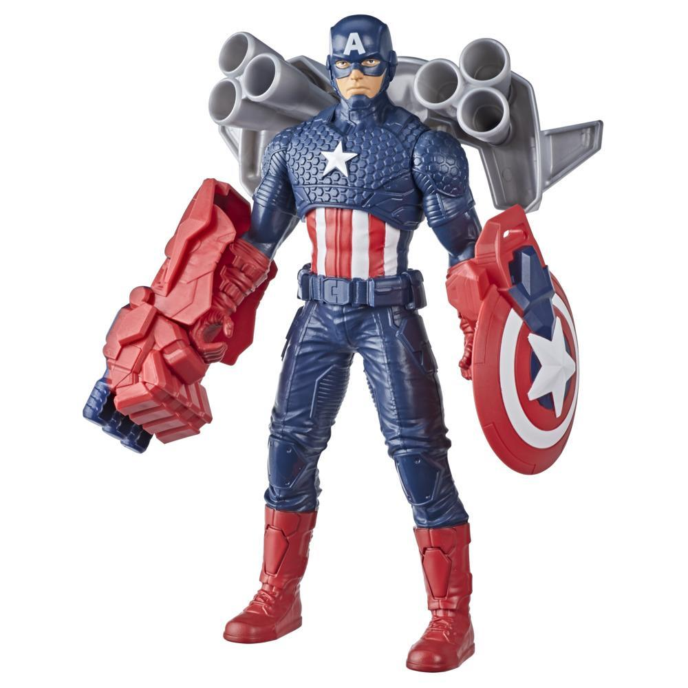 Hasbro Marvel 9.5-inch Scale Collectible Super Heroes and Villains Action Figure Toy Captain America And 3 Accessories, Kids Ages 4 and Up