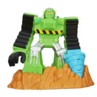 Playskool Heroes Transformers Rescue Bots Beam Box Boulder the Construction-Bot Game Pack