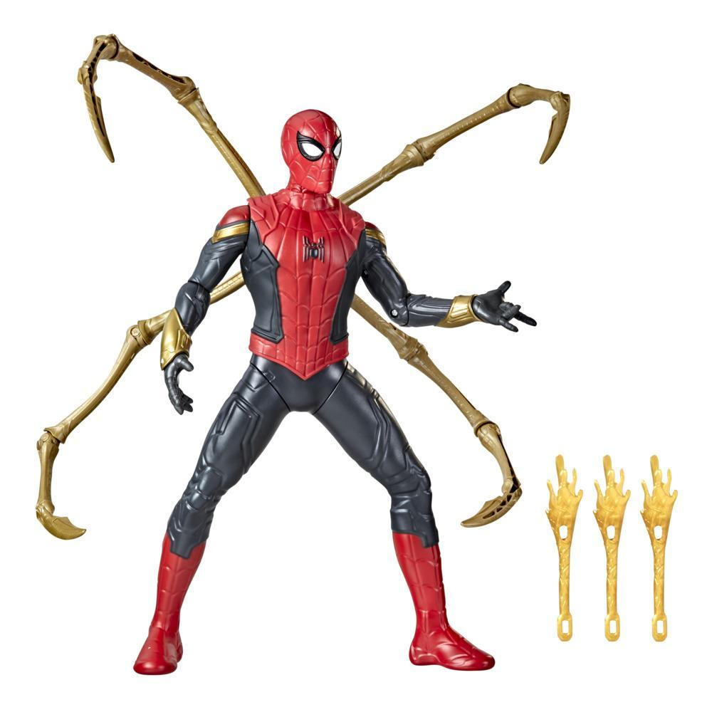 Marvel Spider-Man Deluxe 13-Inch-Scale Thwip Blast Integrated Suit Spider-Man Action Figure, Suit Upgrades, and Web Blaster