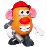 PLAYSKOOL MR. POTATO HEAD CREATE-A-TATER FIREFIGHTER SPUD Kit