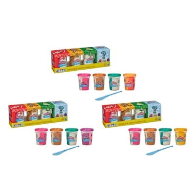 Play-Doh Scents Holiday Mystery 4-Pack with 4 Non-Toxic Scented Play-Doh Colors Including Surprise Scent