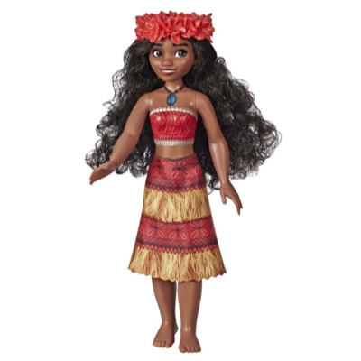 """Disney Princess Musical Moana Fashion Doll with Shell Necklace, Sings """"How Far I'll Go,"""" Toy for 3 Year Olds and Up"""