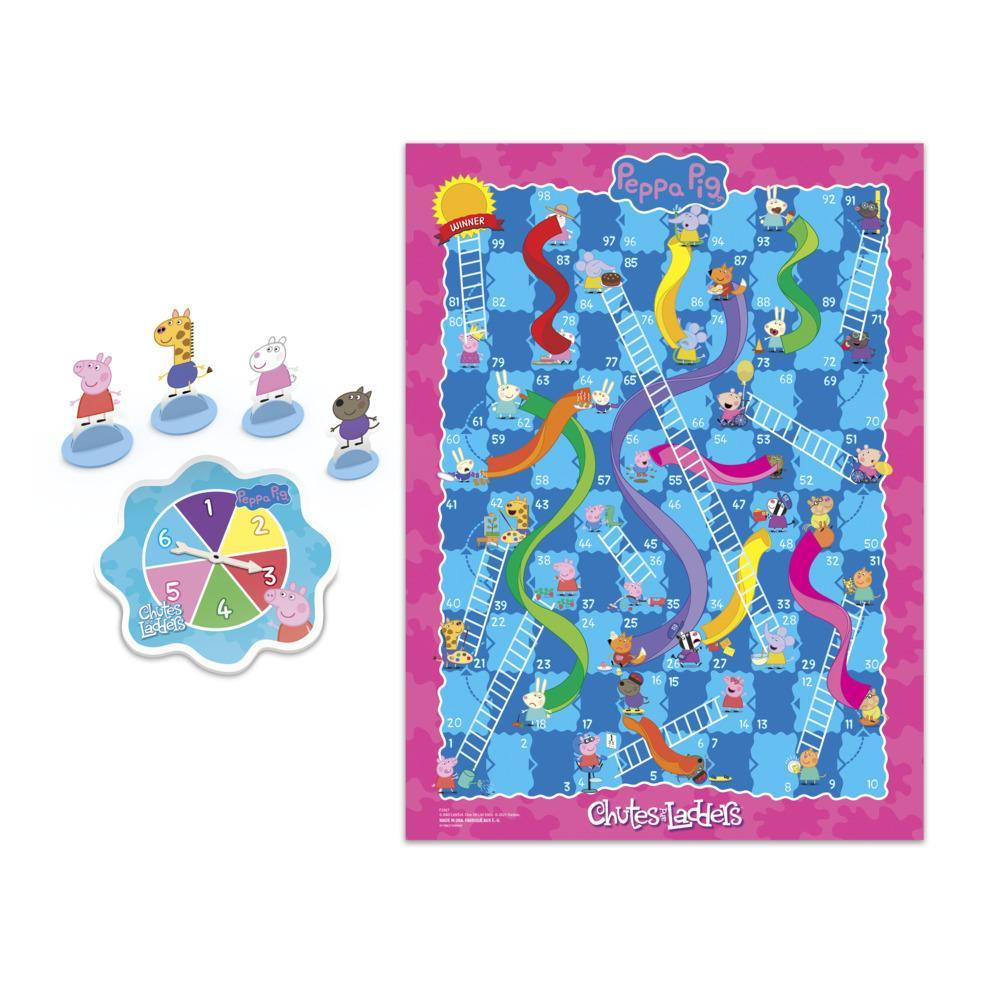 Chutes and Ladders: Peppa Pig Edition Board Game for Kids Ages 3 and Up, for 2-4 Players