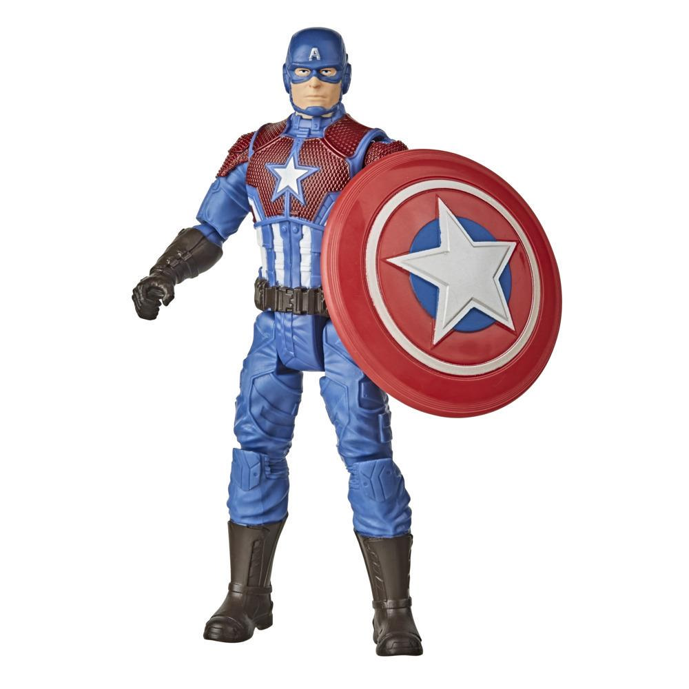Hasbro Marvel Gamerverse 6-inch Captain America Action Figure Toy, Shining Justice Armor, Ages 4 And Up