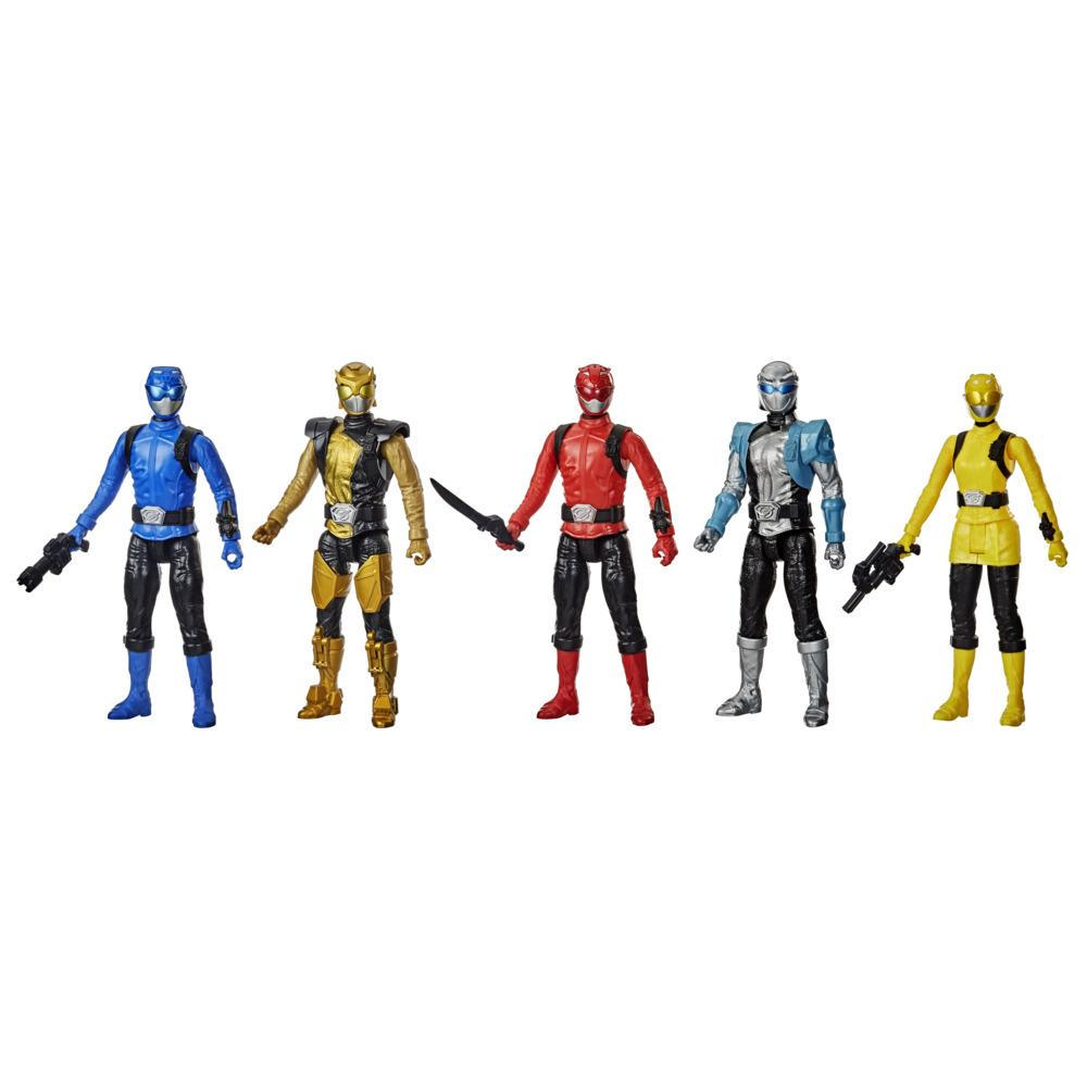 Power Rangers Beast Morphers 12-Inch 5 Action Figure Multipack Toy Inspired by the Power Rangers TV Show