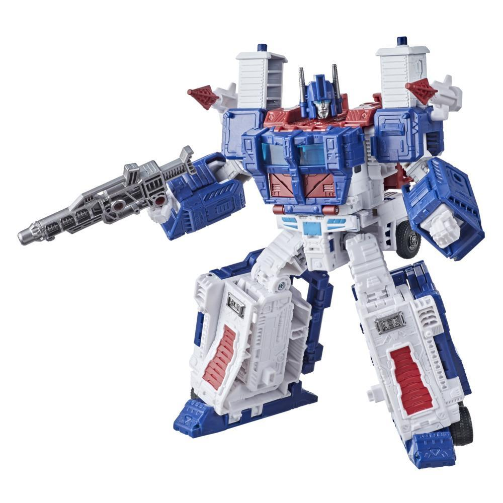 Transformers Toys Generations War for Cybertron: Kingdom Leader WFC-K20 Ultra Magnus Action Figure - 8 and Up, 7.5-inch