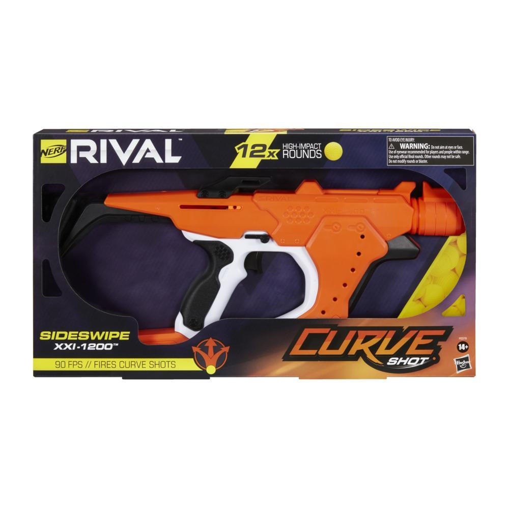 Nerf Rival Curve Shot -- Sideswipe XXI-1200 Blaster -- Fire Rounds to Curve Left, Right, Downward or Fire Straight