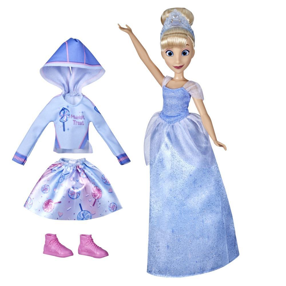 Disney Princess Comfy Squad Comfy to Classic Cinderella Fashion Doll, Disney Princess Toy for Girls 5 Years and Up