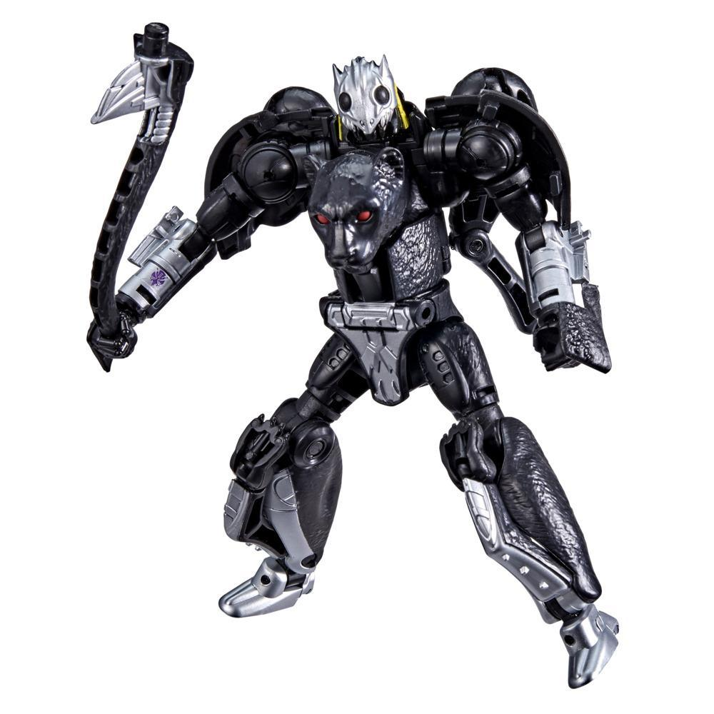 Transformers Toys Generations War for Cybertron: Kingdom Deluxe WFC-K31 Shadow Panther Action Figure - 8 and Up, 5.5-inch