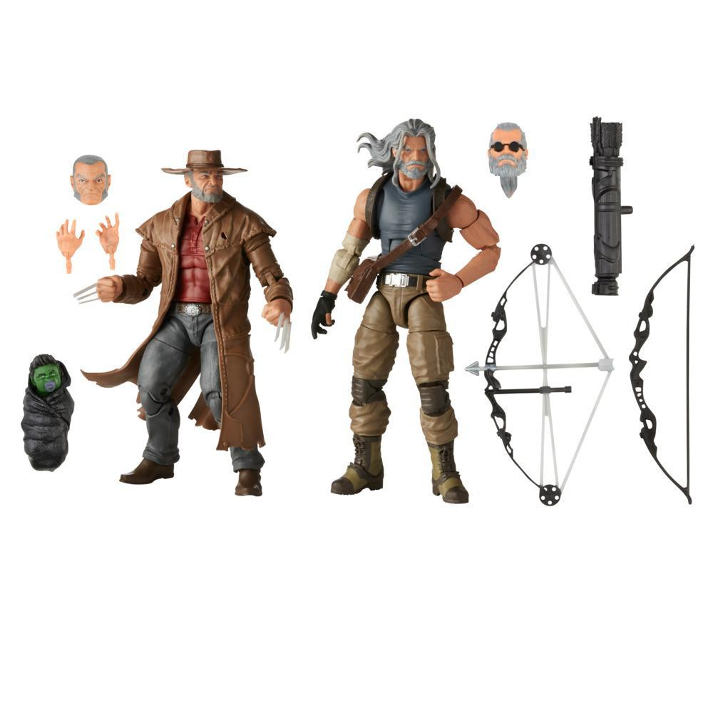 Hasbro Marvel X-Men Series 6-inch Collectible Marvel's Hawkeye and Marvel's Logan Action Figure Toys, Ages 4 And Up