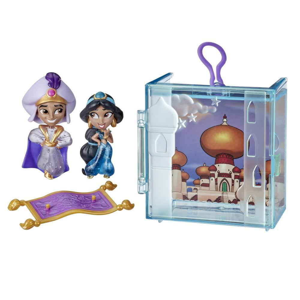 Disney Princess Perfect Pairs Jasmine, Fun Unboxing Toy with 2 Dolls, Display Case and Stand, For Kids 3 Years and Up