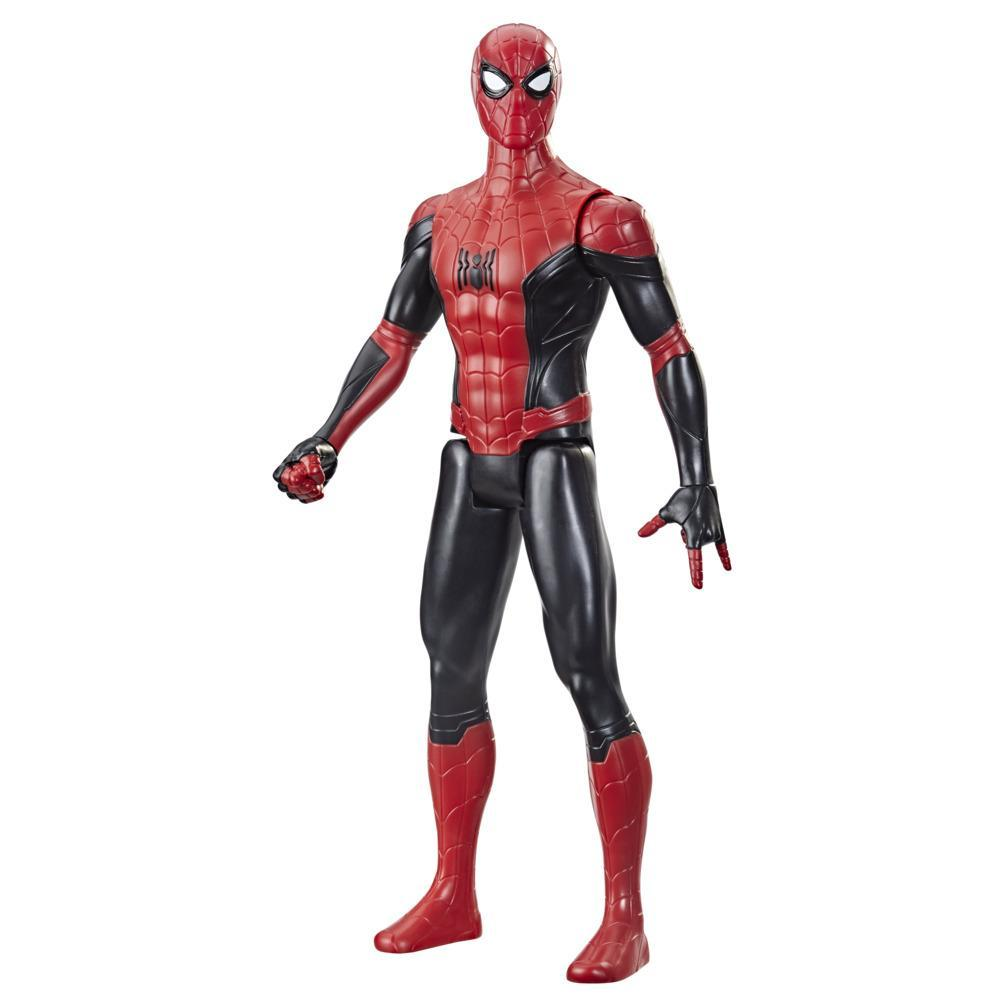 Marvel Spider-Man Titan Hero Series 12-Inch New Black And Red Suit Spider-Man Action Figure Toy, Inspired By Spider-Man Movie, For Kids Ages 4 and Up