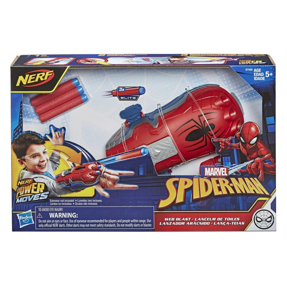 NERF Power Moves Marvel Spider-Man Web Blast Web Shooter NERF Dart-Launching Toy for Kids Roleplay, Kids Ages 5 and Up