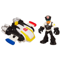 TRANSFORMERS RESCUE BOTS PLAYSKOOL HEROES BILLY BLASTOFF & Jet Pack