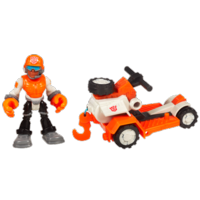 TRANSFORMERS RESCUE BOTS PLAYSKOOL HEROES SAWYER STORM and Rescue Winch