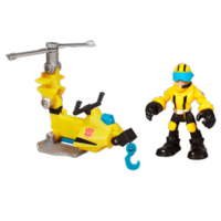 TRANSFORMERS RESCUE BOTS PLAYSKOOL HEROES AXEL FRAZIER & Microcopter