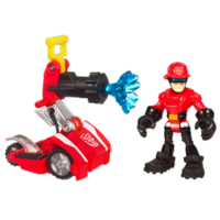 TRANSFORMERS RESCUE BOTS PLAYSKOOL HEROES CODY BURNS and Rescue Hose