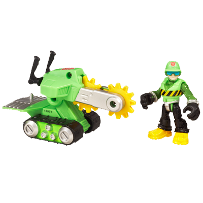 TRANSFORMERS RESCUE BOTS PLAYSKOOL HEROES WALKER CLEVELAND and Rescue Saw