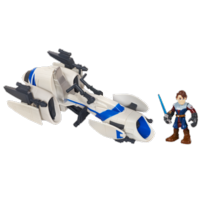 STAR WARS Jedi Force PLAYSKOOL HEROES BARC SPEEDER BIKE with ANAKIN SKYWALKER
