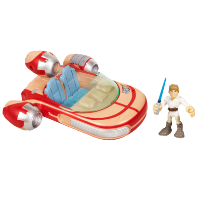 STAR WARS Jedi Force PLAYSKOOL HEROES LANDSPEEDER with LUKE SKYWALKER