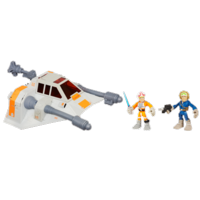 STAR WARS Jedi Force PLAYSKOOL HEROES SNOWSPEEDER with LUKE SKYWALKER and HAN SOLO