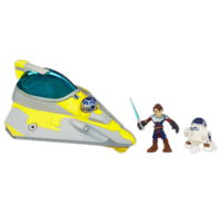 STAR WARS Jedi Force PLAYSKOOL HEROES Anakin Skywalker's JEDI STARFIGHTER with R2-D2