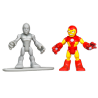 MARVEL Super Hero Adventures PLAYSKOOL HEROES IRON MAN and SILVER SURFER