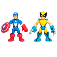 MARVEL Super Hero Adventures PLAYSKOOL HEROES CAPTAIN AMERICA and WOLVERINE