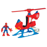 MARVEL Super Hero Adventures PLAYSKOOL HEROES Helicopter with SPIDER-MAN