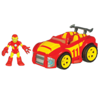 MARVEL Super Hero Adventures PLAYSKOOL HEROES Race Car with IRON MAN