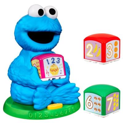 PLAYSKOOL SESAME STREET Cookie Monster's Find & Learn Number Blocks