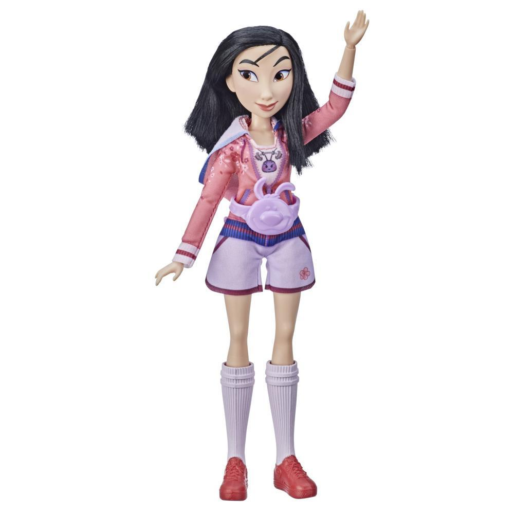 Disney Princess Comfy Squad Mulan Fashion Doll, Toy Inspired by Ralph Breaks the Internet Movie, Casual Outfit Doll