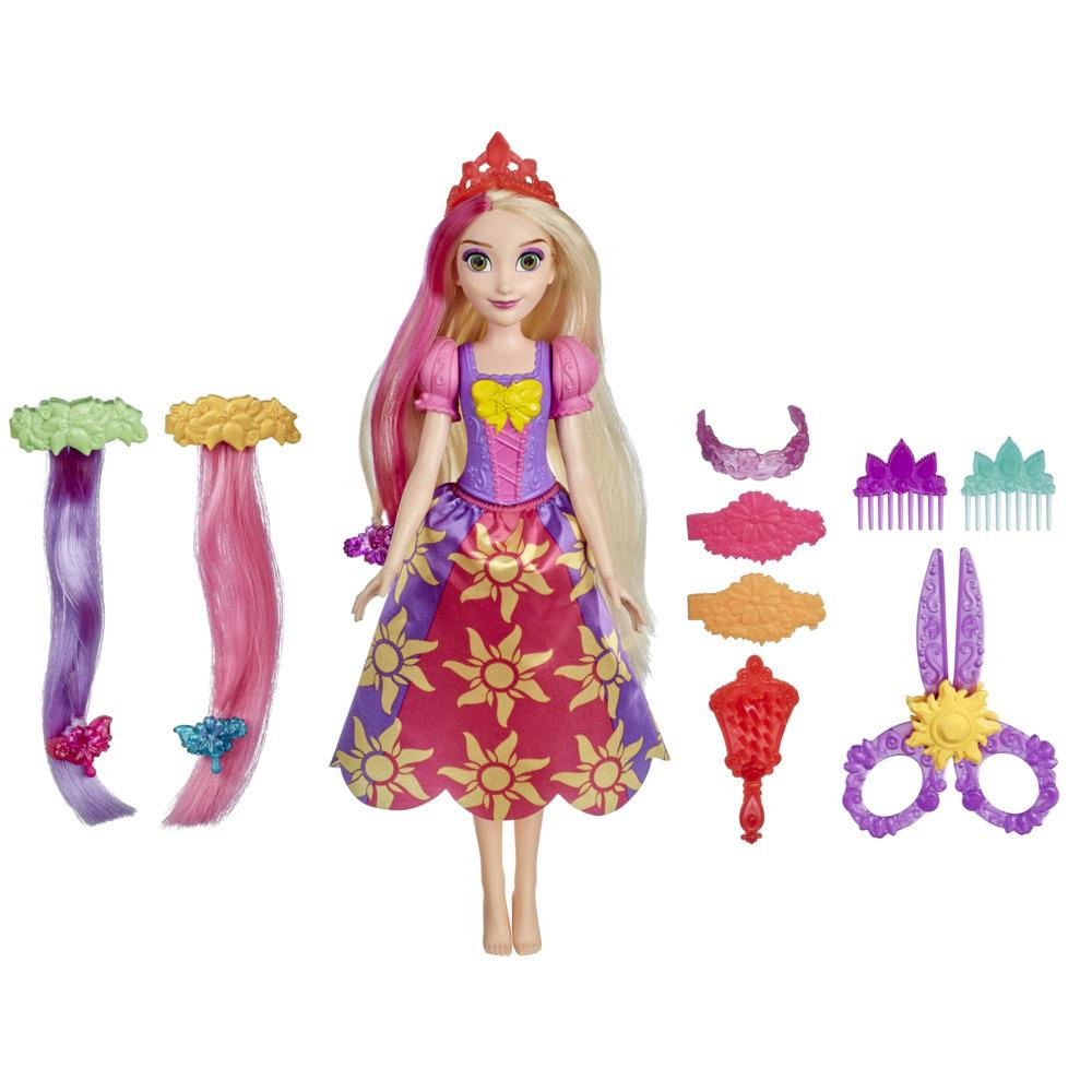 Disney Princess Cut and Style Rapunzel Hair Fashion Doll, Toy with Hair Extensions, Play Scissors, Accessories