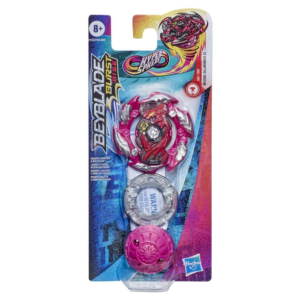 Beyblade Burst Rise Hypersphere Inferno Salamander S5 Single Pack -- Balance Type Battling Top Toy, Ages 8 and Up