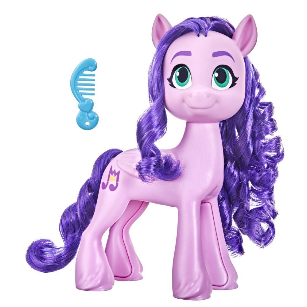 My Little Pony: A New Generation Mega Movie Friends Princess Petals -- 8-Inch Pink Pony Toy with Comb