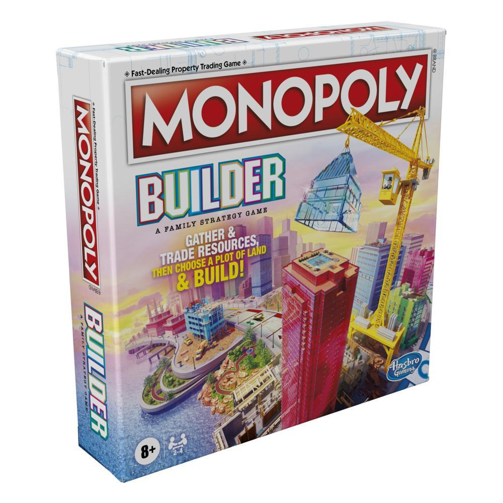 Monopoly Builder Board Game, Strategy Game, Family Game, Games for Kids, Fun Game to Play, Family Board Games