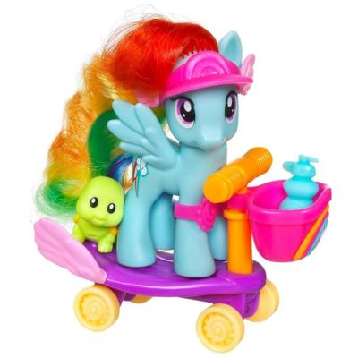 MY LITTLE PONY RIDING ALONG WITH RAINBOW DASH SKATEBOARD