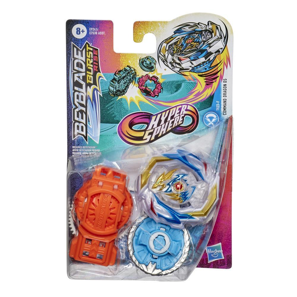 Beyblade Burst Rise Hypersphere Command Dragon D5 Starter Pack -- Attack Type Battling Game Top and Launcher Toy