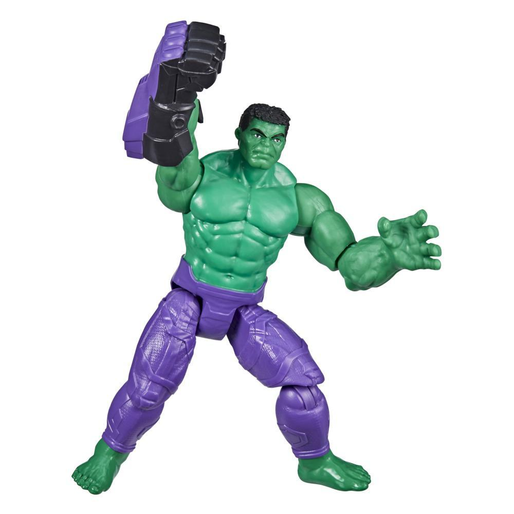 Marvel Avengers Mech Strike 6-inch Scale Action Figure Toy Hulk And Battle Accessory, For Kids Ages 4 And Up