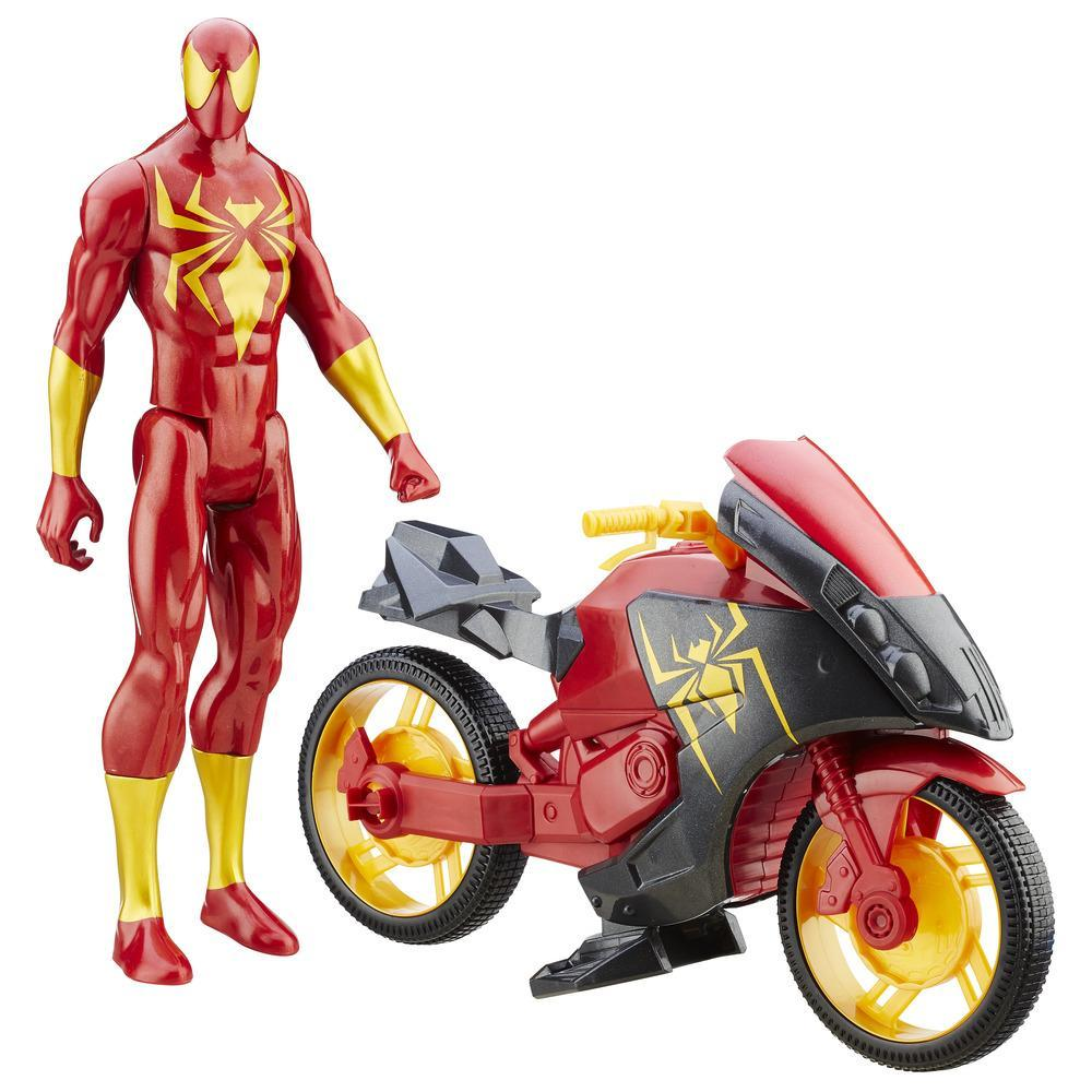 Ultimate Spider-Man vs. The Sinister Six: Titan Hero Series Iron Spider with Repulsor Cycle