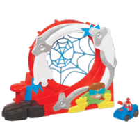 MARVEL Spider-Man Adventures PLAYSKOOL HEROES - STUNTACULAR SPEED LOOP Set