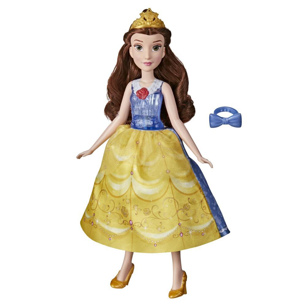 Disney Princess Spin and Switch Belle, Quick Change Fashion Doll, Toy for Girls 3 Years and Up