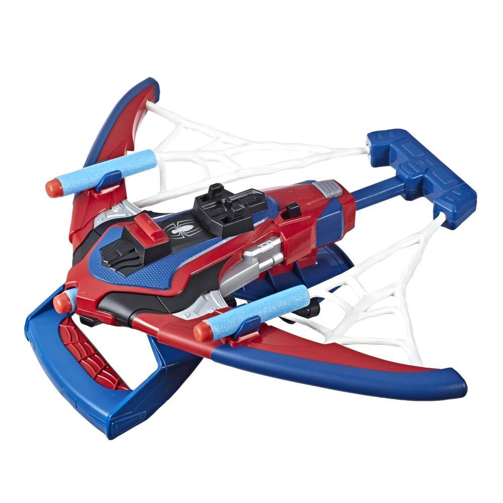 Spider-Man Web Shots Spiderbolt NERF Powered Blaster Toy, Fires Darts, Includes 3 Darts, For Kids Ages 5 and Up