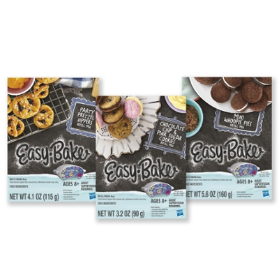 Easy-Bake Ultimate Oven Toy Refill Mix 3-Pack: Pretzels, Whoopie Pies, Chocolate Chip & Sugar Cookie Mixes, Ages 8 & Up