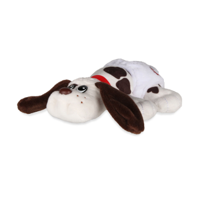 Pound Puppies Newborns Classic 80's Collection - White with Dark Brown Spots