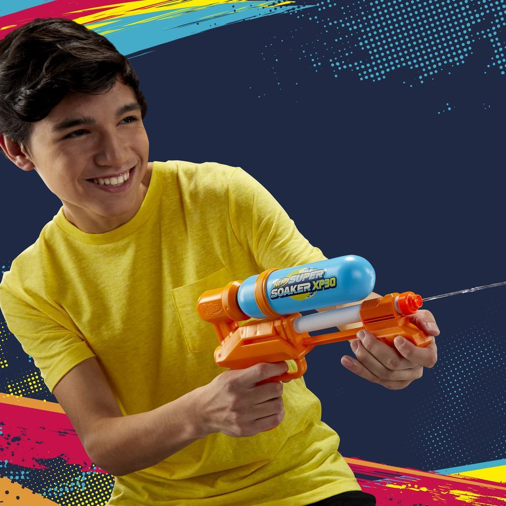 Nerf Super Soaker XP30 Water Blaster -- Air-Pressurized Continuous Blast -- Removable Tank -- For Kids, Teens, Adults