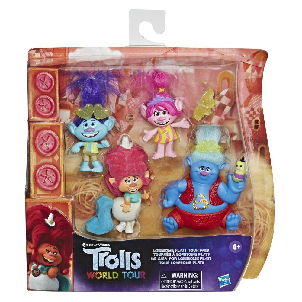 DreamWorks Trolls Lonesome Flats Tour Pack, 5 Small Toy Doll Set Inspired by the Movie Trolls World Tour, Up