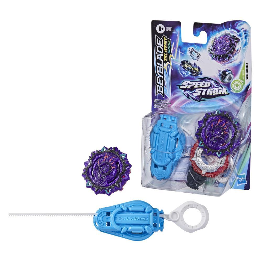 Beyblade Burst Surge Speedstorm Vex Lucius L6 Spinning Top Starter Pack -- Battling Game Top Toy with Launcher